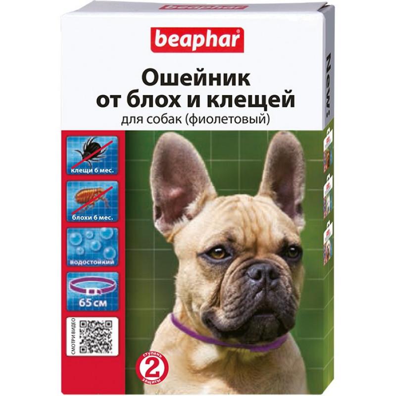 Беафар Ошейник д/собак от блох и клещей фиолетовый 65см