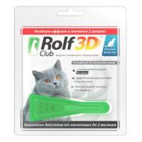 ROLF CLUB 3D Капли д/кошек от блох и клещей от 4кг
