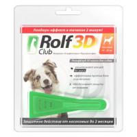 ROLF CLUB 3D Капли от блох и клещей д/собак 10-20кг