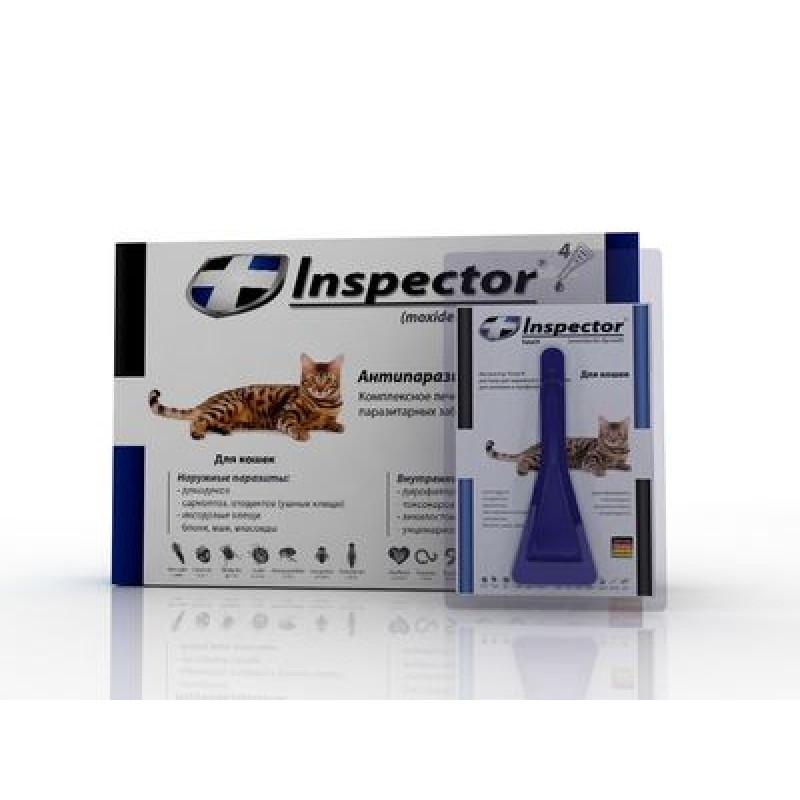 Inspector инсекто-акарицидные капли от всех паразитов для кошек (до 4 кг)