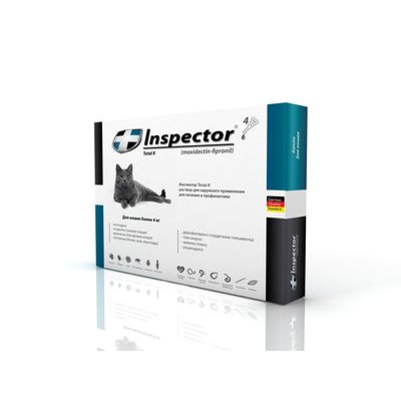 Inspector инсекто-акарицидные капли от всех паразитов для кошек (более 4 кг)1*16