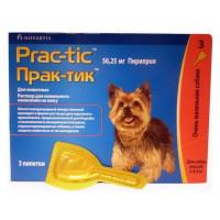 Практик Капли д/собак 2-4,5кг от блох и клещей 0,45мл*3пипетки