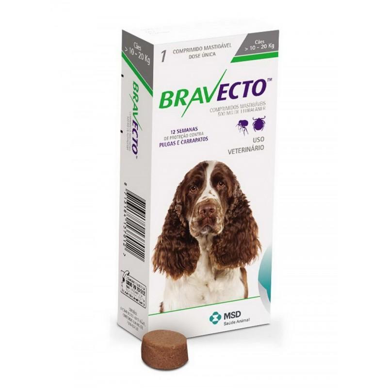 Бравекто 500мг таблетка инсектоакарицидная д/собак 10-20кг