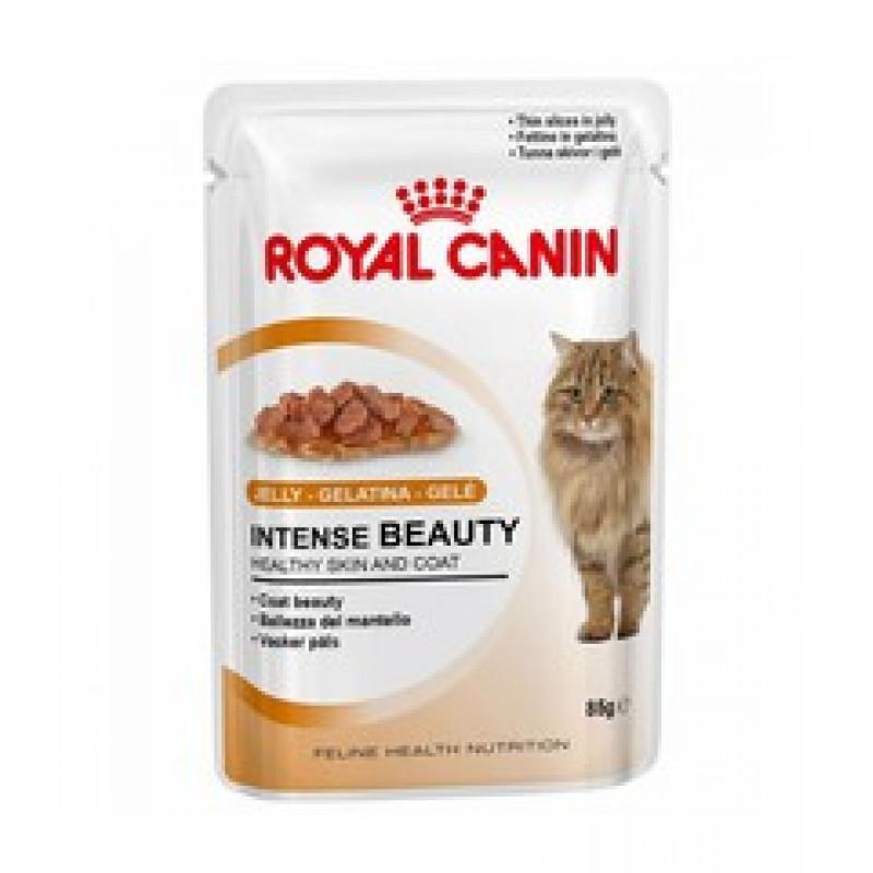Royal Canin Intense Beauty Влажный корм для кошек с чувствительной кожей или проблемной шерстью (ЖЕЛЕ)