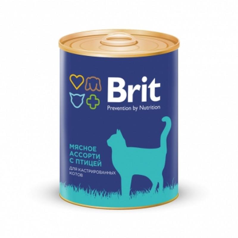 Brit Premium «Мясное ассорти с птицей» Консервы премиум класса
