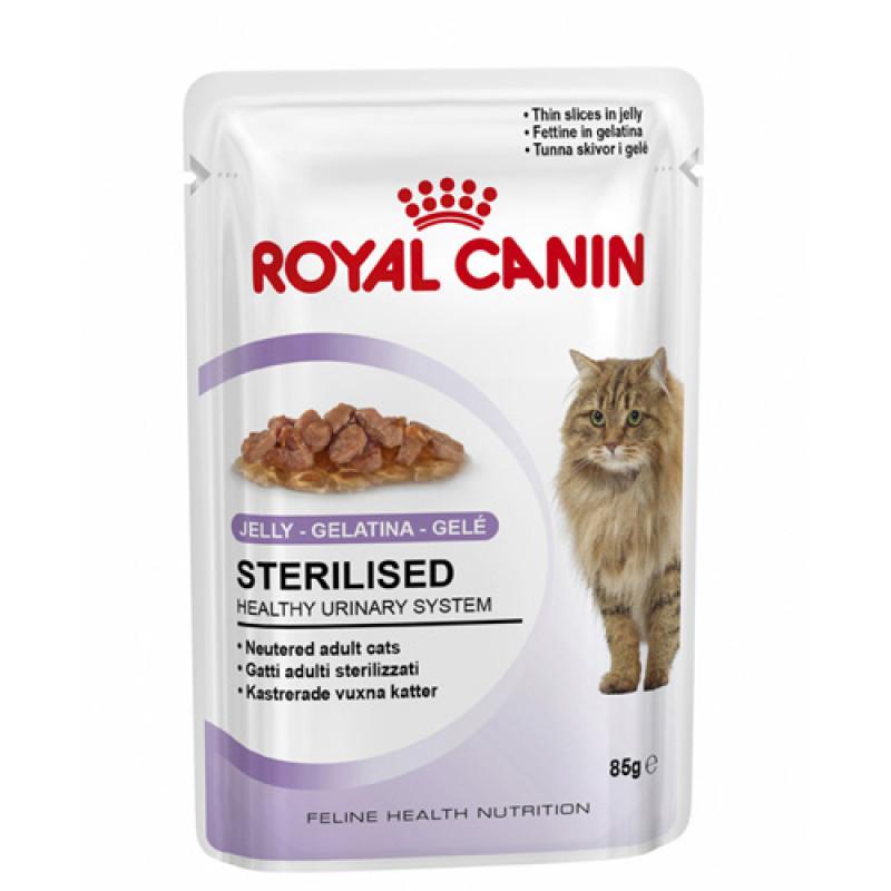 Royal Canin Sterilised Влажный корм для стерилизованных кошек от 1 года (ЖЕЛЕ)