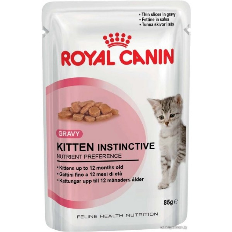 Royal Canin Kitten Instinctive Влажный корм для котят до 1 года (СОУС)