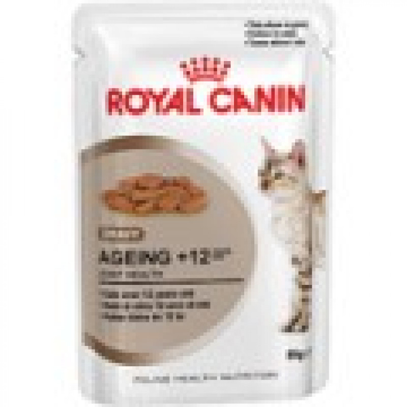 Royal Canin Ageing +12 Влажный корм для кошек старше 12 лет (ЖЕЛЕ)