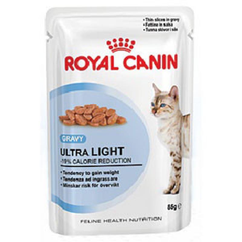 Royal Canin Ultra Light Влажный корм для кошек, склонных к полноте (СОУС)