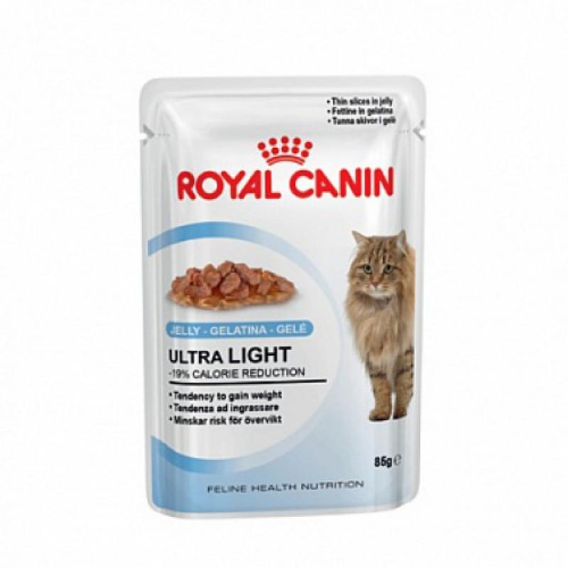 Royal Canin Ultra Light Влажный корм для кошек, склонных к полноте (ЖЕЛЕ)