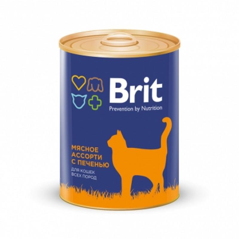Brit Premium «Мясное ассорти с печенью» Консервы премиум класса