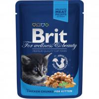 Brit Premium Пауч для котят с Курицей