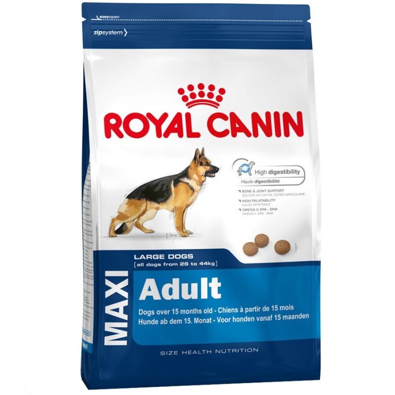 Royal Canin Maxi Adult Корм для собак крупных пород в возрасте от 15 месяцев до 5 лет