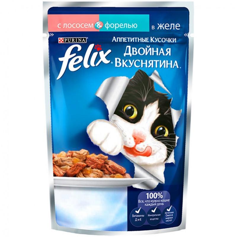 Felix Двойная Вкуснятина лосось,форель в желе