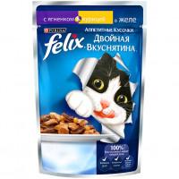 Felix Двойная вкуснятина ягненок,курица в желе