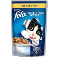 Felix для кошек, курица, кусочки в же