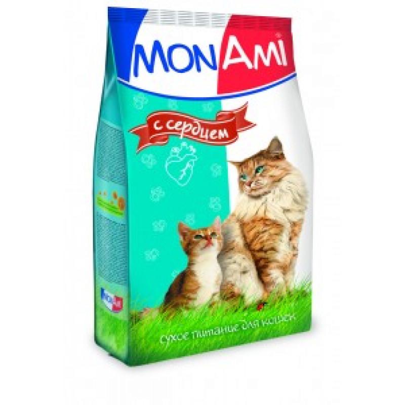 Монами Корм для кошек для профилактики МКБ с Сердцем