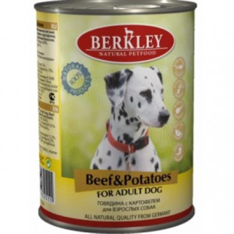 Беркли Консервы для собак Говядина с картофелем