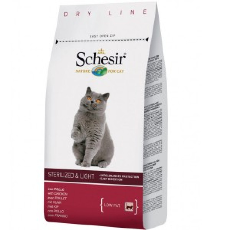 Schesir Sterilized & Light Сухой корм для стерилизованных кошек и кошек, склонных с полноте 1,5 кг