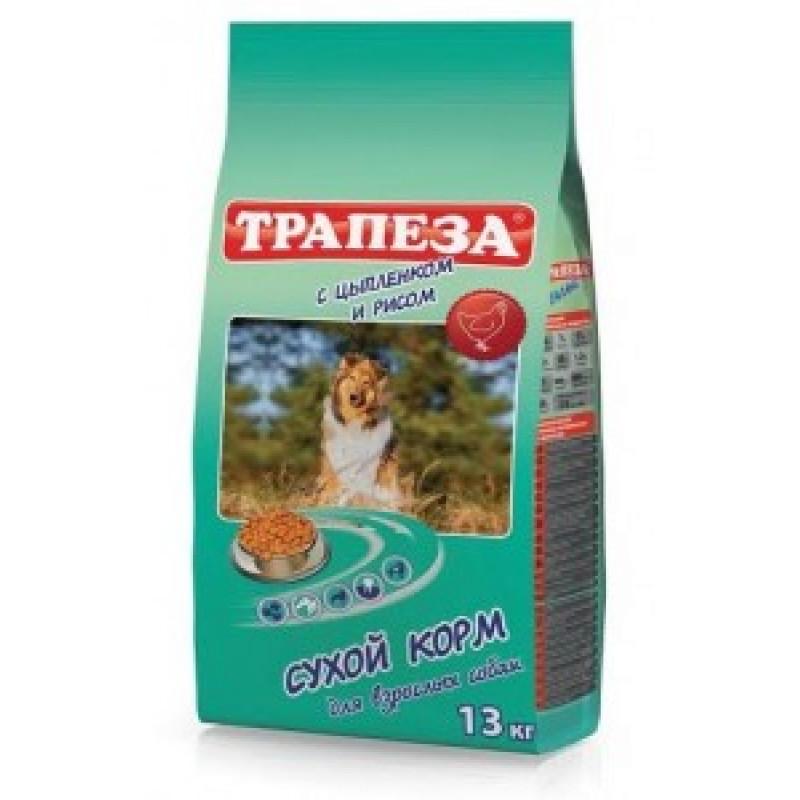 Трапеза Сухой корм для собак Цыпленок с рисом 13кг