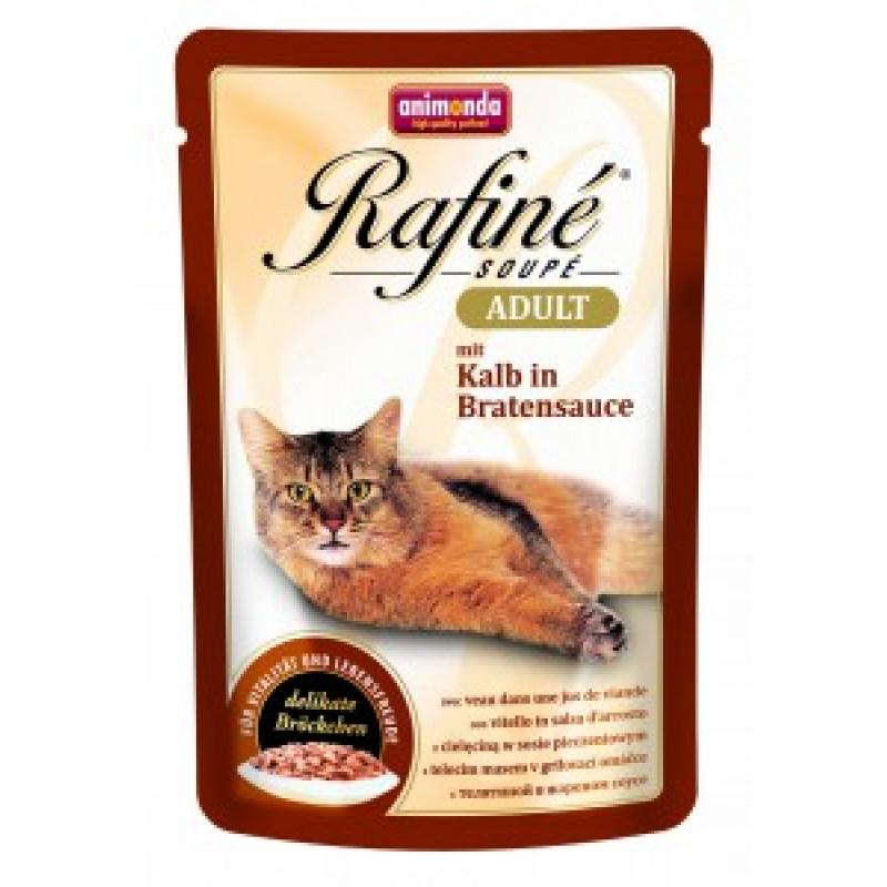 Animonda Rafine Soupe Adult Пауч для кошек коктейль из телятины в жареном соусе