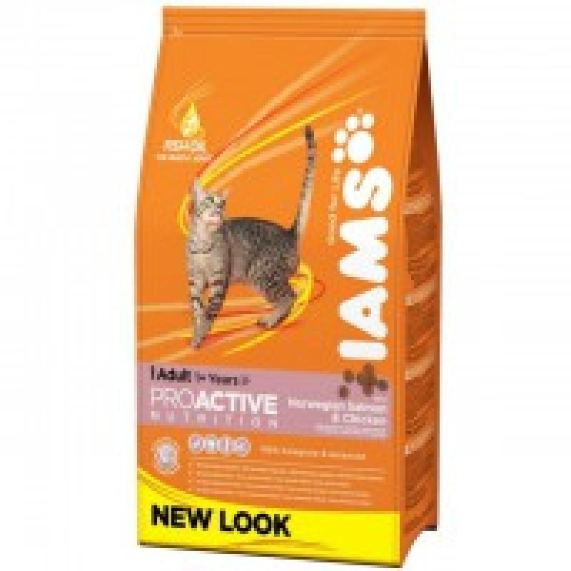 Iams Adult with Salmon Корм для взрослых кошек с лососем 300 г