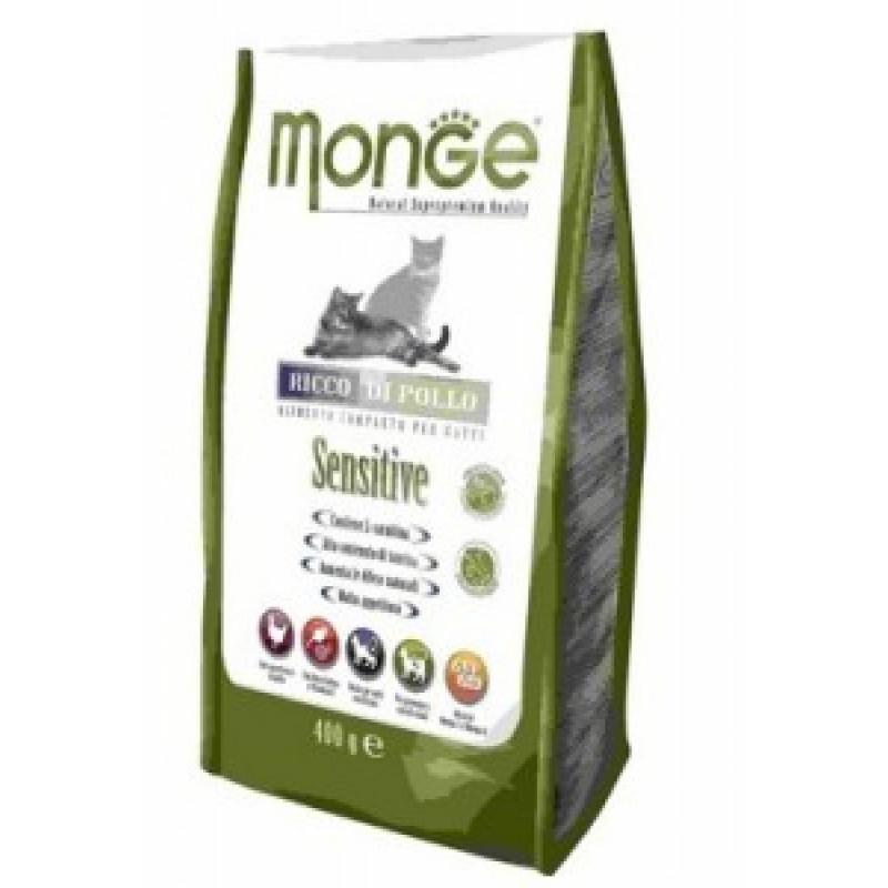 Monge Cat Sensitive Сухой корм для кошек с чувствительным пищеварением 400 г