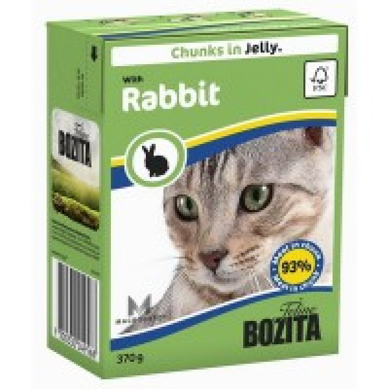 Bozita Rabbit Cat Кусочки в желе с кроликом для кошек 370г