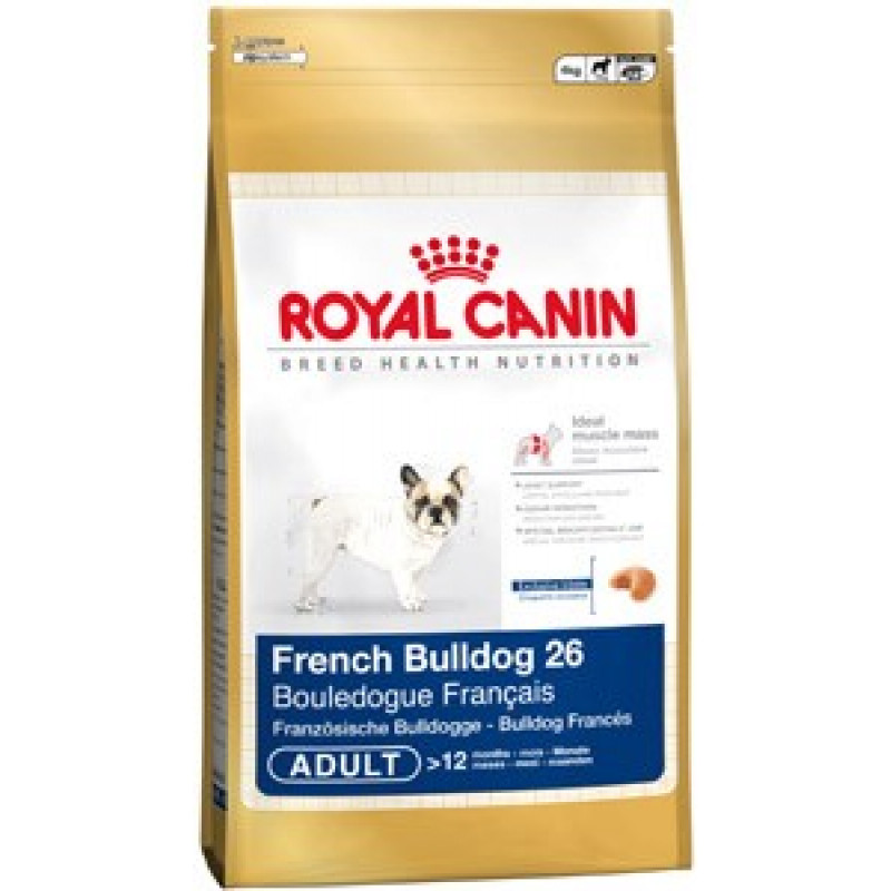 Royal Canin French Bulldog 26 Adult Корм для собак породы Французский бульдог старше 12 месяцев 12кг