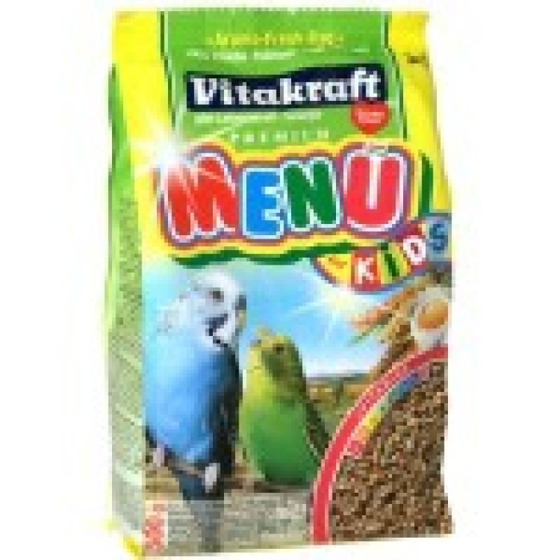 Корм для птенцов волнистых попугаев MENU KIDS Обогащен минералами и витаминами, необходимыми для роста птицы