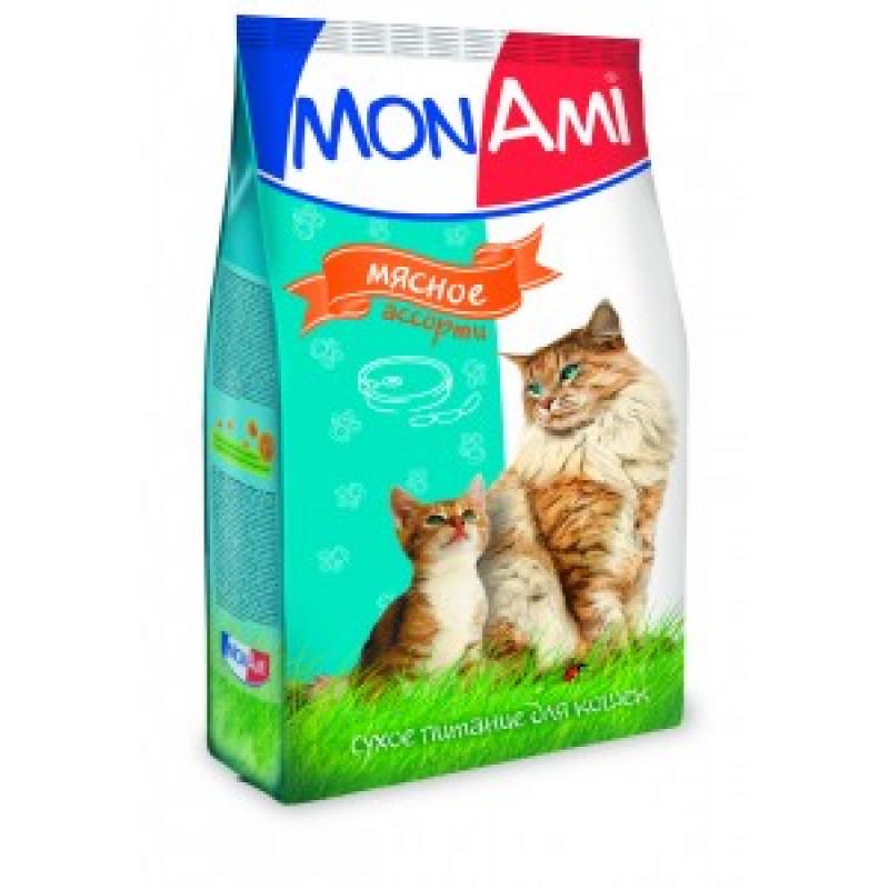 Монами Корм для кошек для профилактики МКБ, мясное ассорти