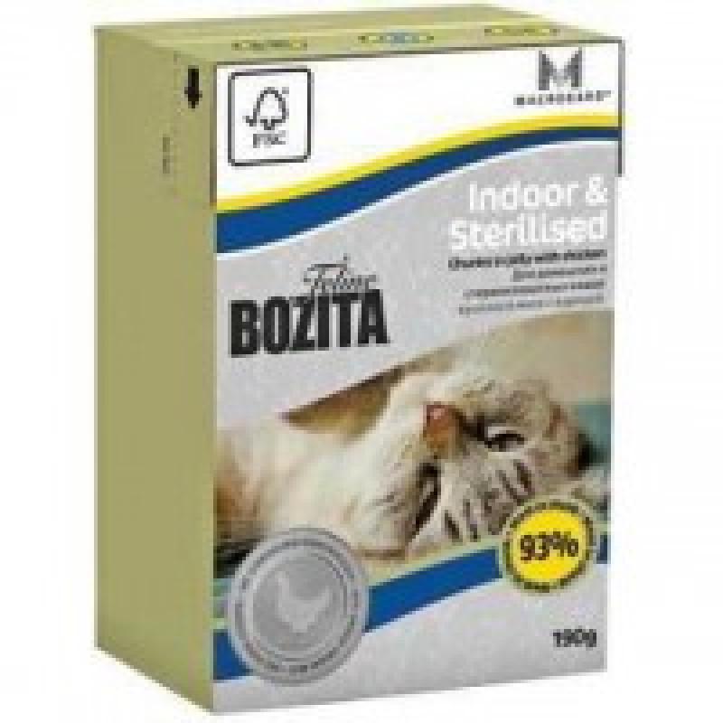 Bozita Mini Funktin Indoor&Sterilised кусочки Курицы в желе для домашних и стерилизованных кошек 190г