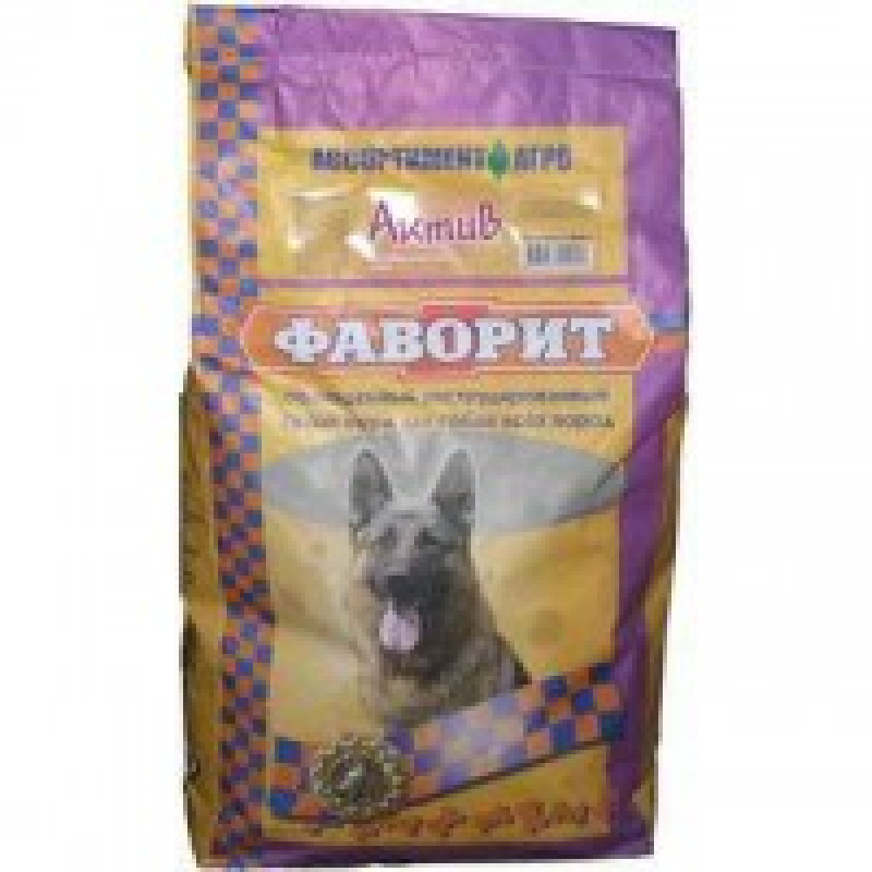 Фаворит Актив Комбикорм для активных собак 13КГ