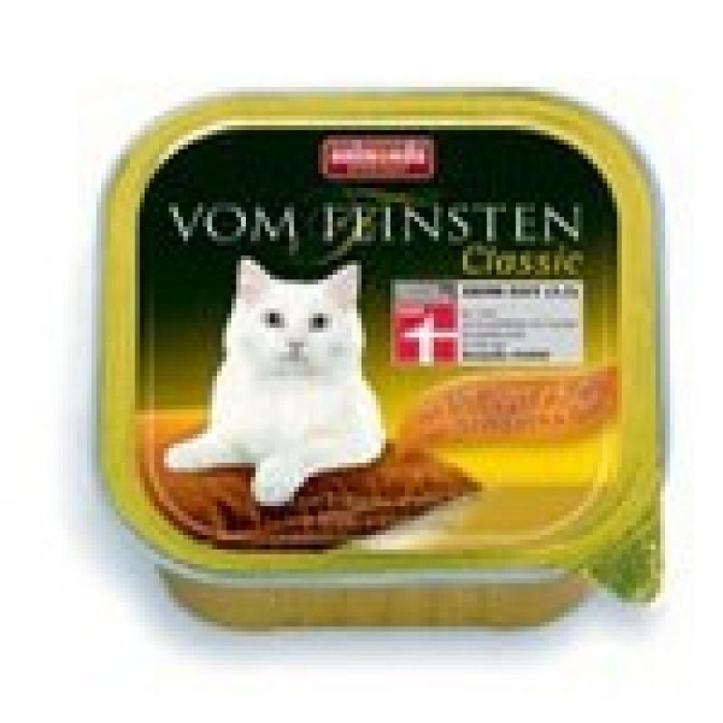 Animonda Vom Feinsten Classic Консервы для кошек с домашней птицей и телятиной