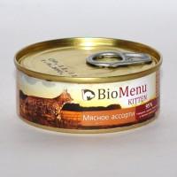 BioMenu Kitten Ассорти Консервы для котят паштет Мясное ассорти 95% - мясо