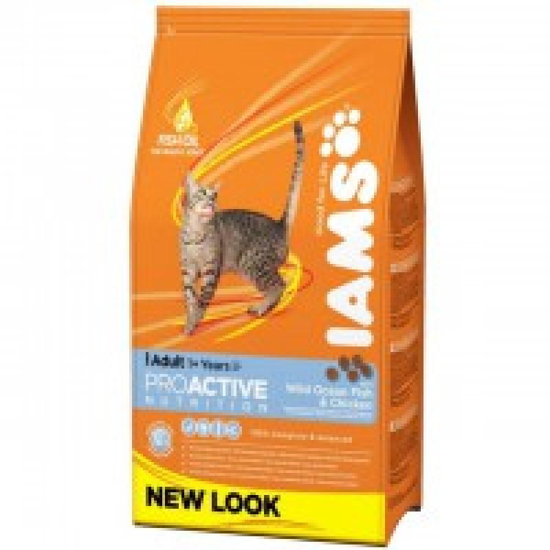 Iams Adult with Ocean Fish Корм для взрослых кошек с океанической рыбой 300 г