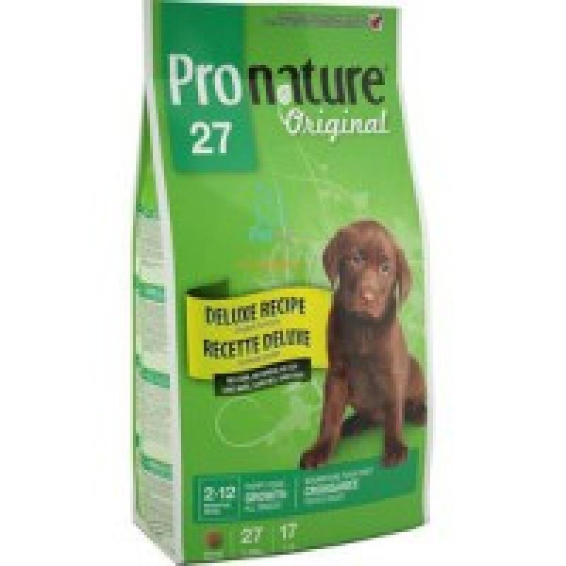 Pronature Original 27 Корм для щенков без сои, пшеницы, кукурузы