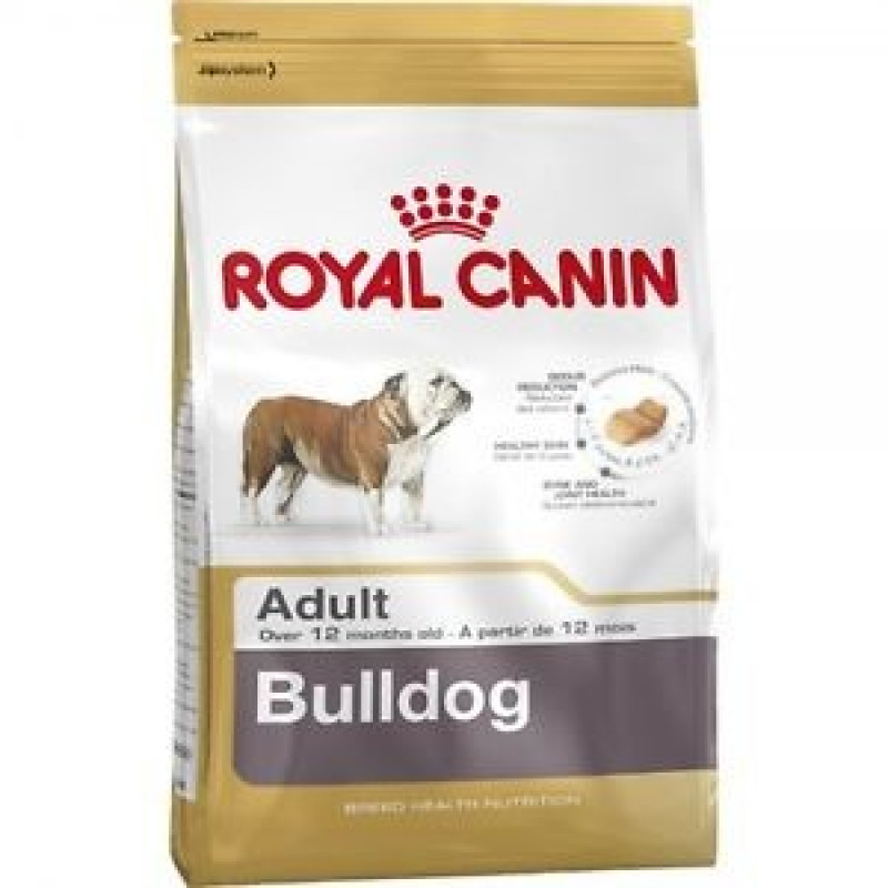 Royal Canin Bulldog 24 Adult Корм для собак породы Английский бульдог старше 12 месяцев 12кг