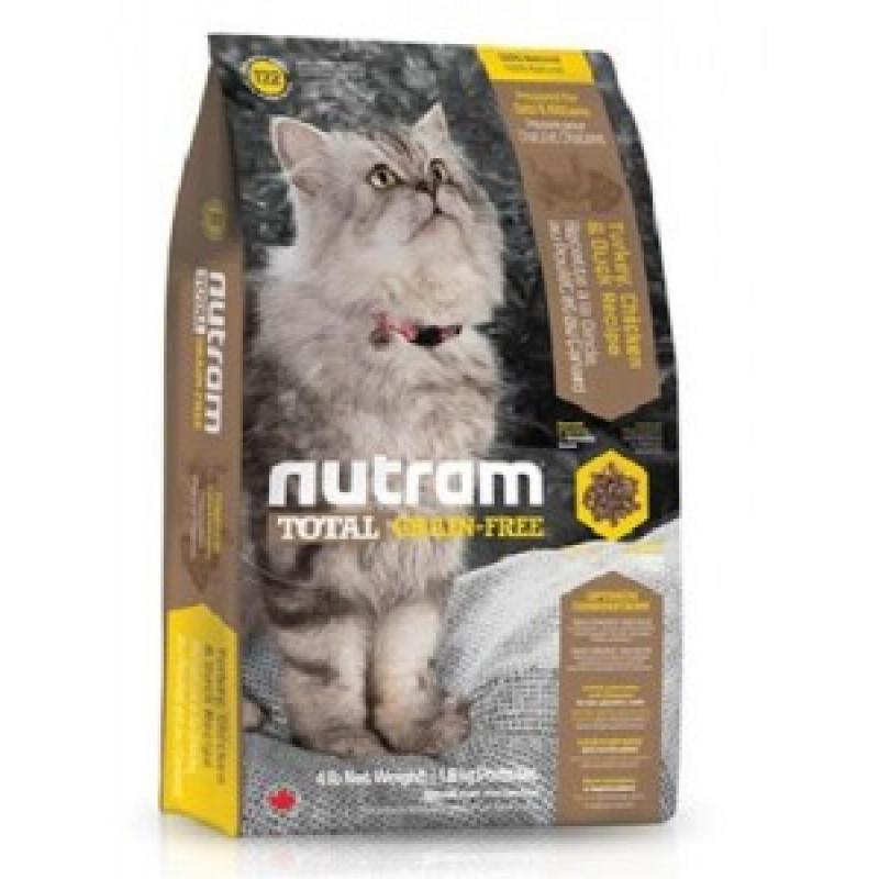 Nutram GF Turkey, Chicken & Duck Cat Food Беззерновой корм для кошек с Индейкой, курицей и уткой 6,8 кг