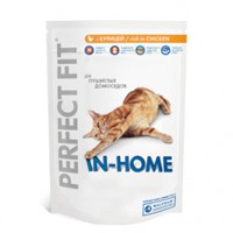 Perfect Fit In-Home Корм для домашних кошек с курицей 1,2кг