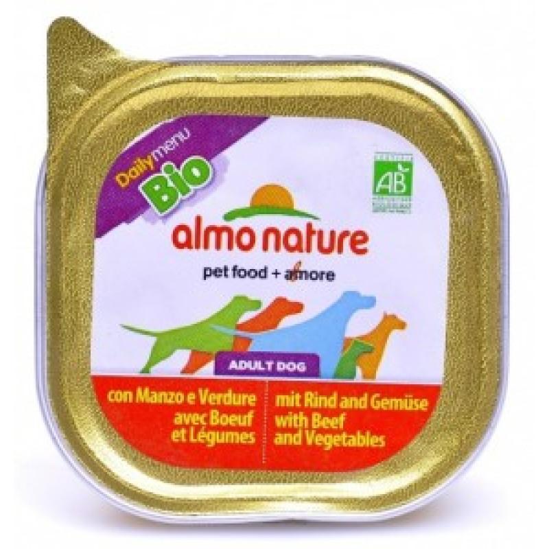 Almo Nature Dailymenu Паштет для собак с говядиной и овощами, ламистер