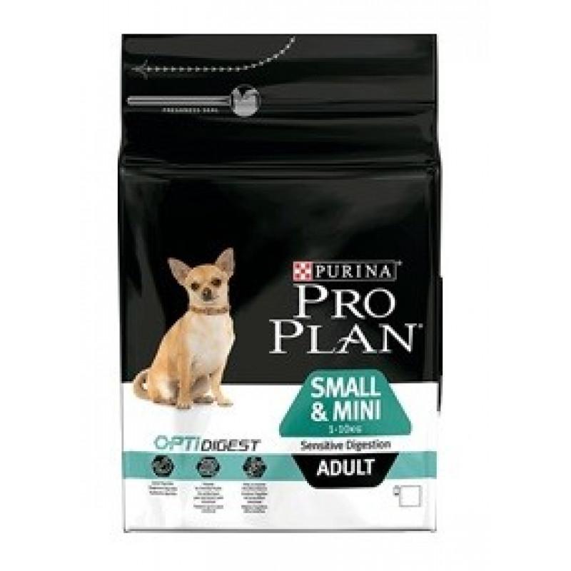 Pro Plan Adult Small Sensitive Digestion Сухой корм для взрослых собак мелких и карликовых пород с чувствительным пищеварением, Ягненок с рисом