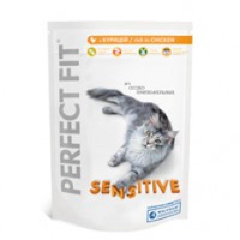 Perfect Fit Sensitive Корм для чувствительных кошек с курицей 3 кг