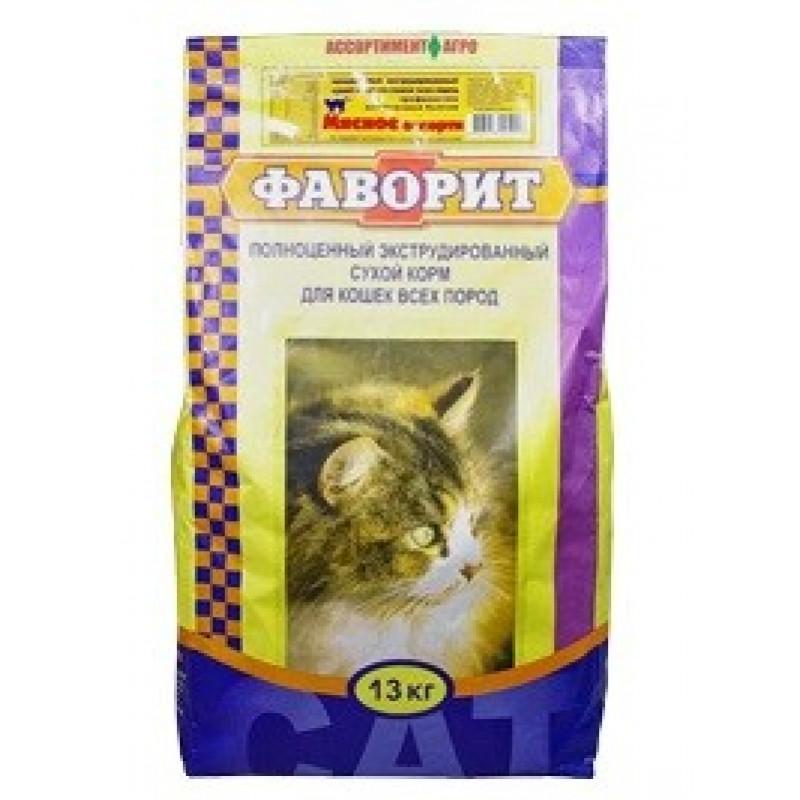 Фаворит Комбикорм для кошек *Мясное ассорти* 13 кг