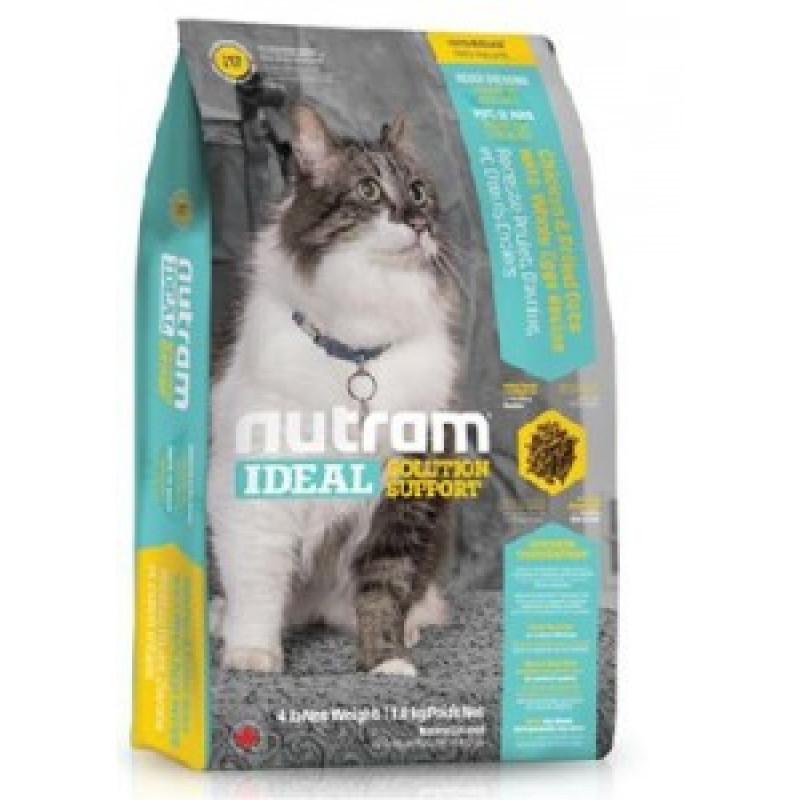 Nutram Ideal Solution Support Indoor Shedding Cat Food Сухой корм для взрослых привередливых кошек, живущих в помещении 6,8 кг