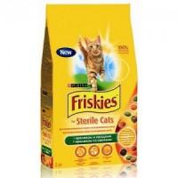 Friskies Sterilised Корм -для стерилизованных кошек и кастрированных котов, с кроликом и овощами