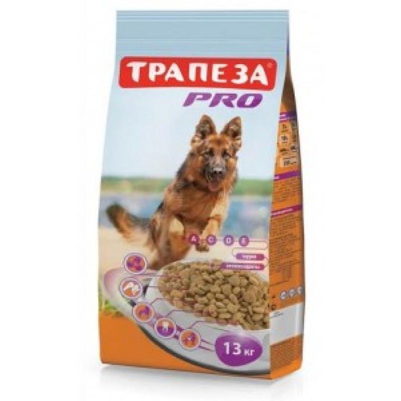 Трапеза PRO Сухой корм для собак с повышенной переодической активностью 13кг