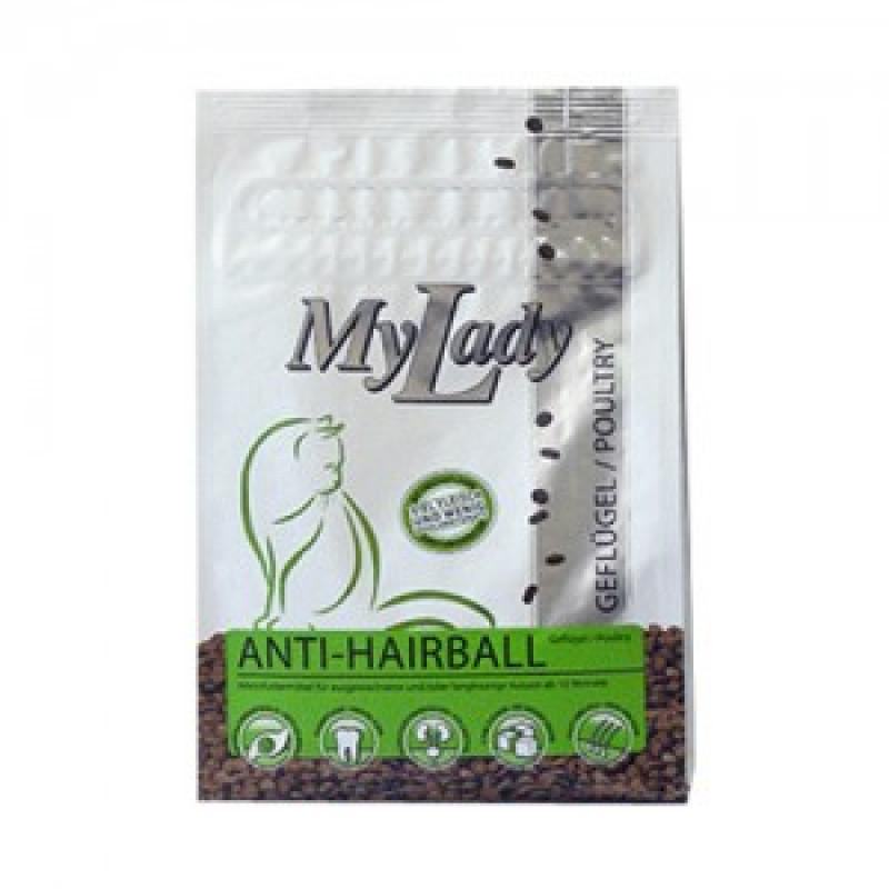 Dr.Alders My Lady Premium Anti-Hairball Сухой корм для кошек против образования волосяных комочков, Птица и печень 400 г