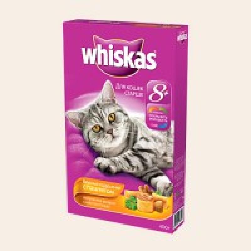 Whiskas Подушечки с Паштетом Птица Корм для кошек старше 8 лет 350 г