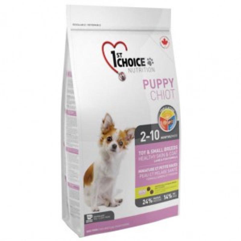 1st Choice Puppy Toy & Small Breeds Корм для щенков миниатюрных пород, ягненок и рыба